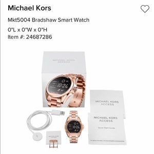 Micheal Kors Gold smart watch